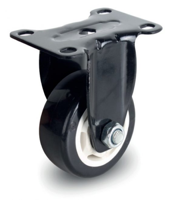 Fixed Double Ball Bearing PU/PVC Caster Wheel - 50 to 80 kg